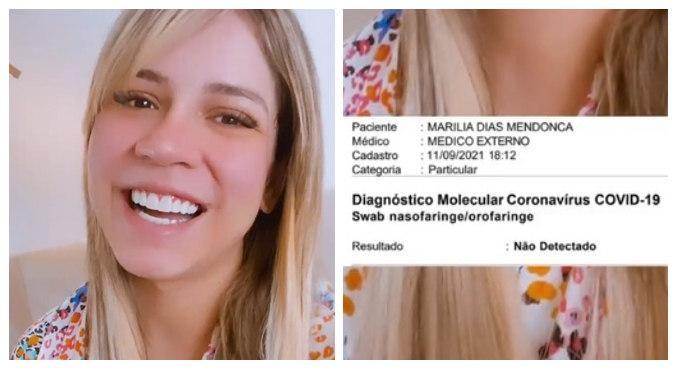 Marília Mendonça se recupera da Covid-19