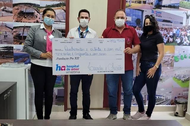 Em Rondônia, vigia junta latinhas e repassa R$ 41.310 mil para o Hospital de Amor Amazônia